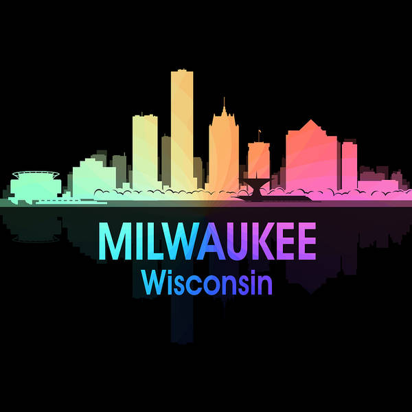 Digital Art - Milwaukee Wi 5 Squared by Angelina Tamez