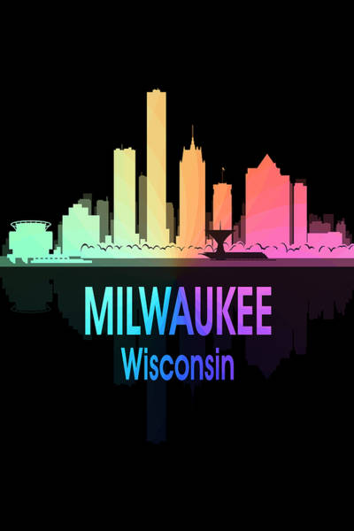 Wall Art - Digital Art - Milwaukee Wi 5 Vertical by Angelina Tamez