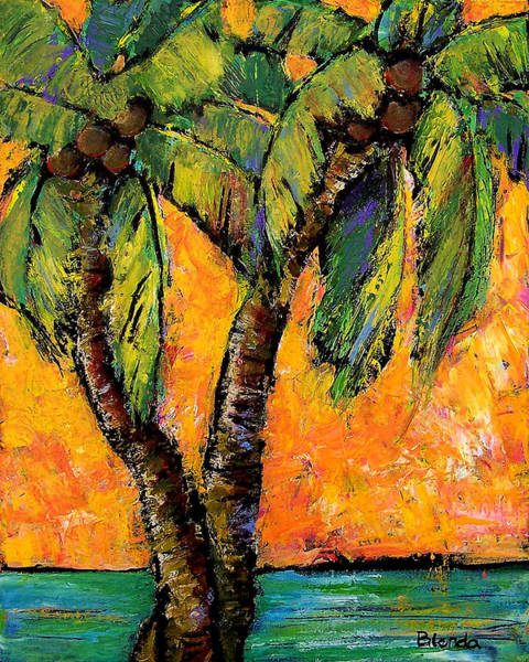 Tropic Painting - Mimosa Sky Palm by Blenda Studio