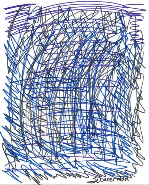 Drawing - Mind At War by Susan Schanerman