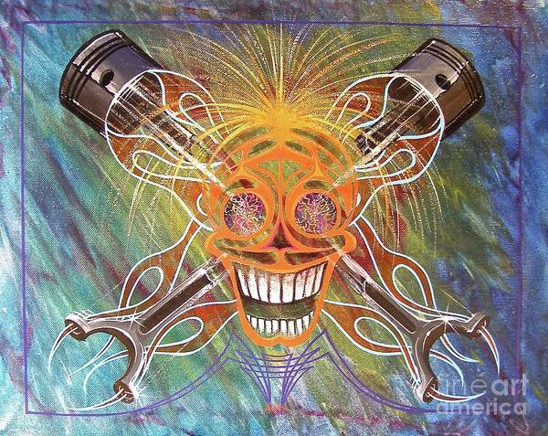 Painting - Mind Blown Motorhead  by Alan Johnson