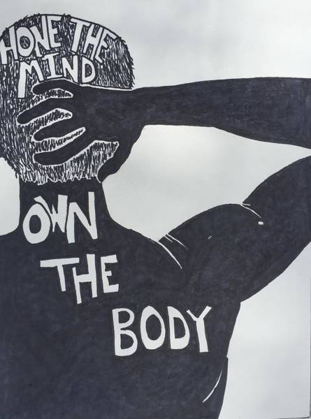 Wall Art - Drawing - Mind/body by Sara Young