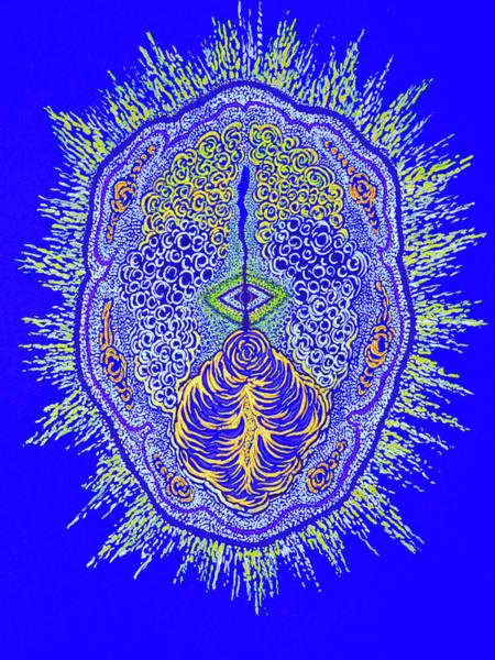 Brain Scan Painting - Mindworks by Barbara Florez