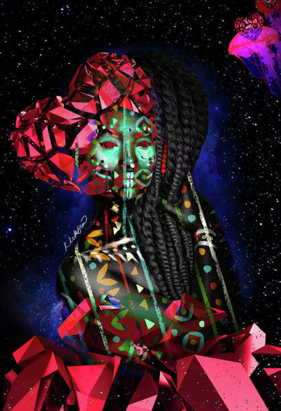 African Tribal Digital Art - Mine by Kia Kelliebrew