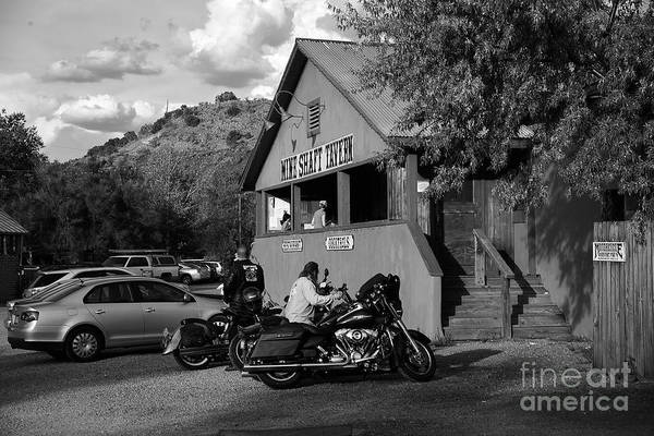 Wall Art - Photograph - Mine Shaft Bikers by Madeline Ellis