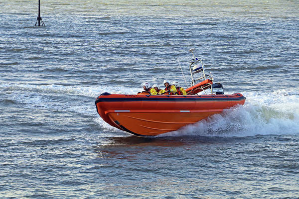 Photograph - Minehead Lifeboat by Tony Murtagh