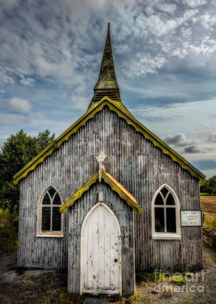 Wooden Church Wall Art - Photograph - Minera Parish by Adrian Evans