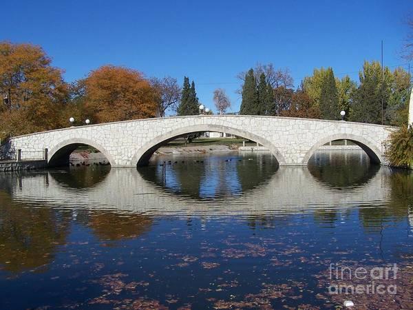 Photograph - Mineral Palce Park Bridge by Tony Baca