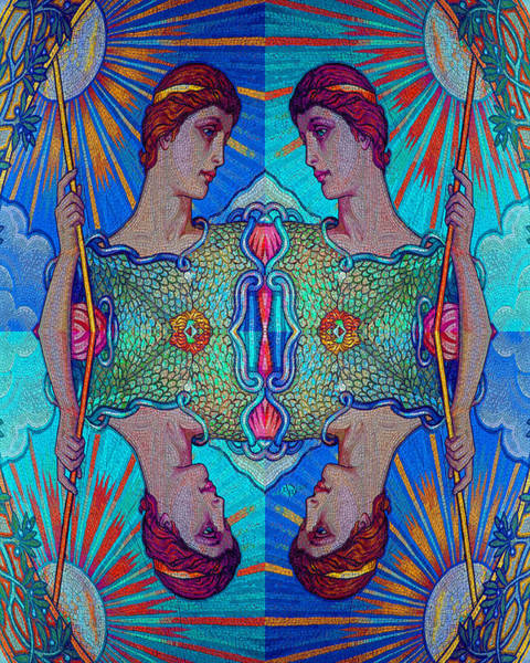 Painting - Minerva Goddess Of Wisdom Surreal Pop Art 1 by Tony Rubino