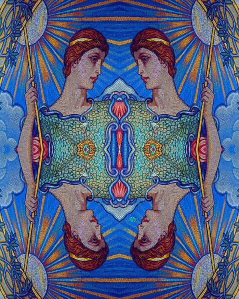Painting - Minerva Goddess Of Wisdom Surreal Pop Art 2 by Tony Rubino