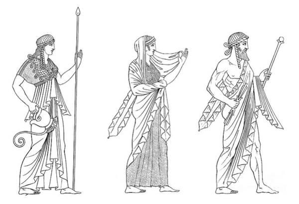Photograph - Minerva, Juno, And Jupiter by Granger