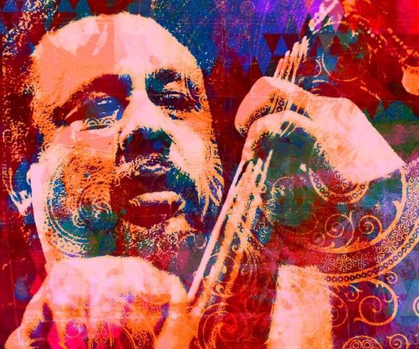Bass Player Wall Art - Digital Art - Mingus  by Brian Broadway