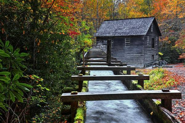 Photograph - Mingus Mill During Fall In The Great Smoky Mountain National Park by Carol Montoya