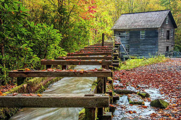 Photograph - Mingus Mill Flume by Andy Crawford