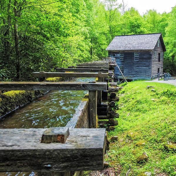Wall Art - Photograph - Mingus Mill Flume by Paul Freidlund