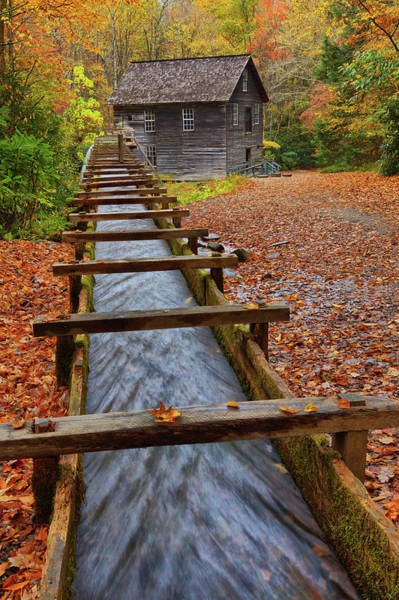 Mingus Mill Photograph - Mingus Mill In Fall by Claudia Domenig