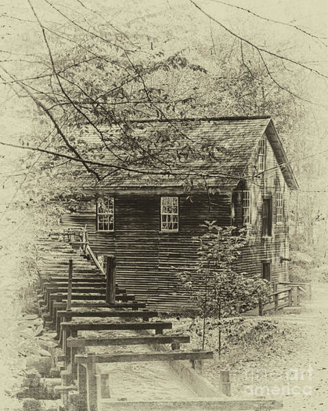 Mingus Mill Photograph - Mingus Mill In Sepia by Tom Gari Gallery-Three-Photography
