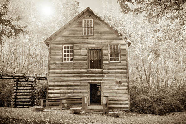 Mingus Mill Photograph - Mingus Mills Sepia by Lisa Bell