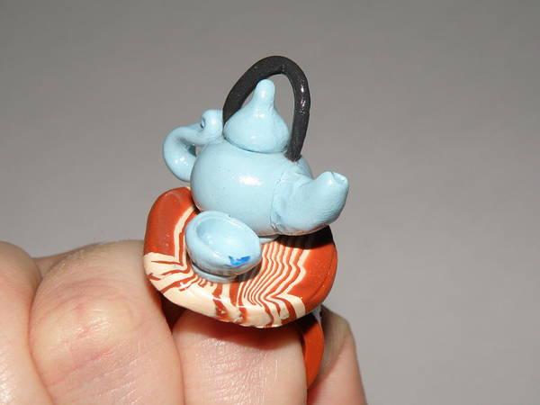 Wall Art - Jewelry - Mini Asian Tea Set Ring by M Brandl