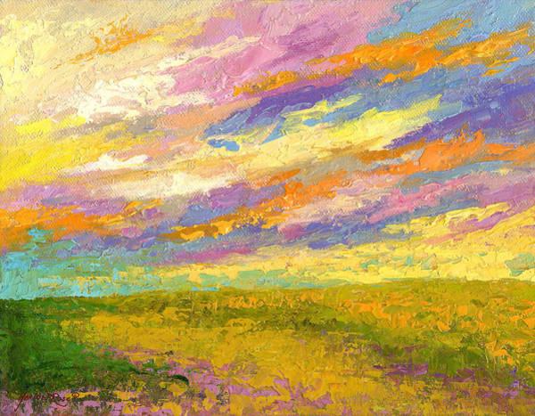 Prairie Painting - Mini Landscape V by Marion Rose