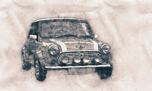 Wall Art - Mixed Media - Mini Marque - Bmw - 1959s - Automotive Art - Car Posters by Studio Grafiikka