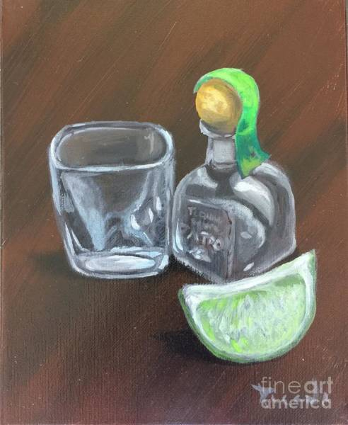 Painting - Mini Patron Shots by Holly Picano