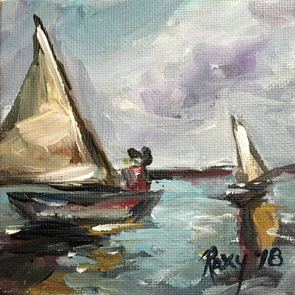 Transportation Painting - Mini Sails by Roxy Rich