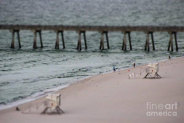 Wall Art - Photograph - Miniature Lifeguard Houses by Mesa Teresita