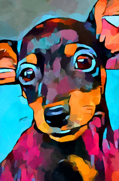 Wall Art - Painting - Miniature Pinscher by Chris Butler