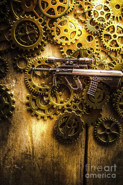 Warfare Wall Art - Photograph - Miniature Steyr Aug A1 by Jorgo Photography - Wall Art Gallery