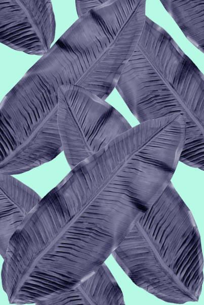 Wall Art - Digital Art - Minimal Leaf In Blue  by Mark Ashkenazi