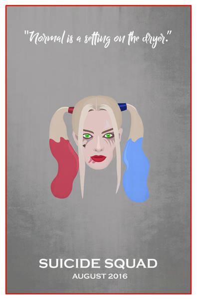 Harley Quinn Wall Art - Digital Art - Minimal Movie Poster Ix by Ricky Barnard