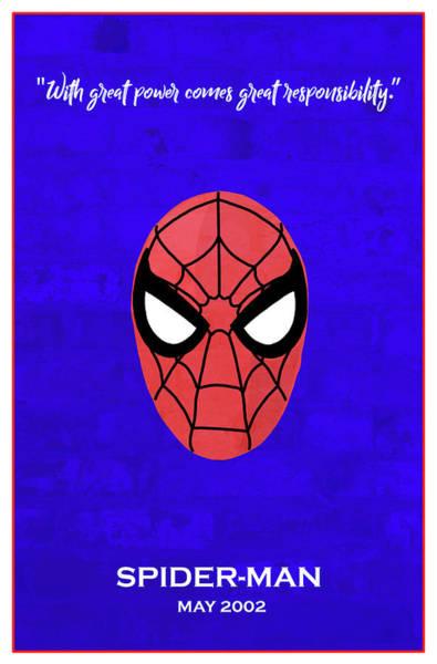 Spider Digital Art - Minimal Movie Poster Vii by Ricky Barnard