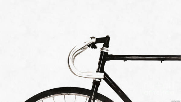 Wall Art - Photograph - Minimalist Bicycle Painting by Edward Fielding