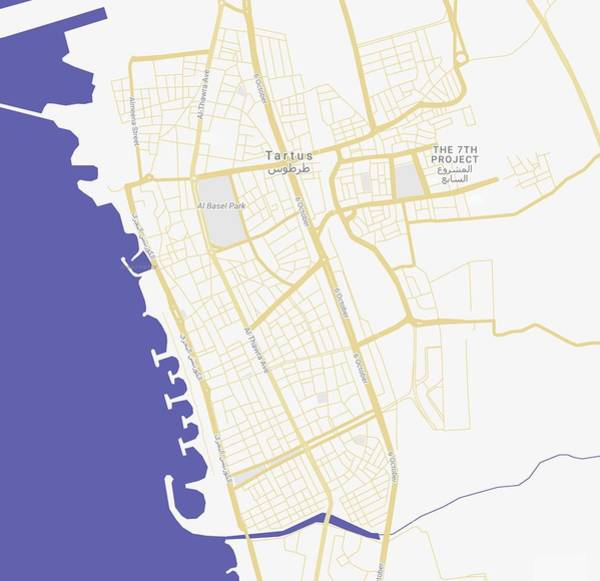 Painting - Minimalist Modern Map Of Tartus, Syria 2 by Celestial Images