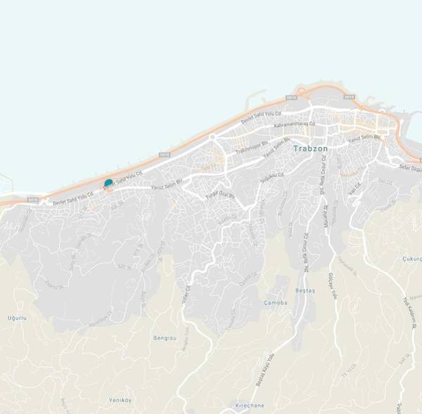 Painting - Minimalist Modern Map Of Trabzon, Turkey by Celestial Images
