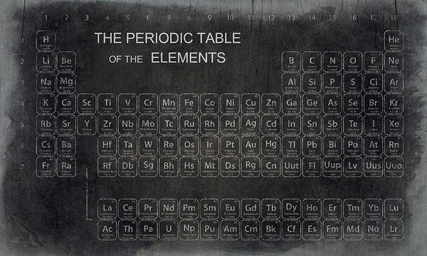 Einstein Wall Art - Digital Art - Minimalist Periodic Table by Daniel Hagerman