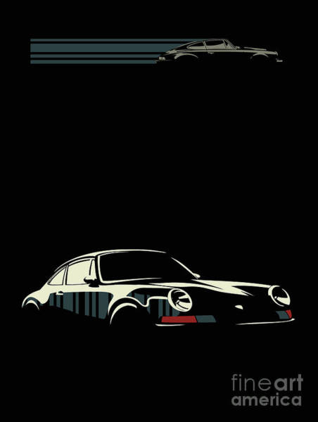 Racing Car Digital Art - Minimalist Porsche by Sassan Filsoof
