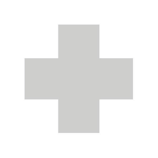 Cross Mixed Media - Minimalist Swiss Cross Pattern - Grey On White by Studio Grafiikka