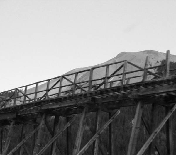 Montain Photograph - Mining Bridge by Peter  McIntosh