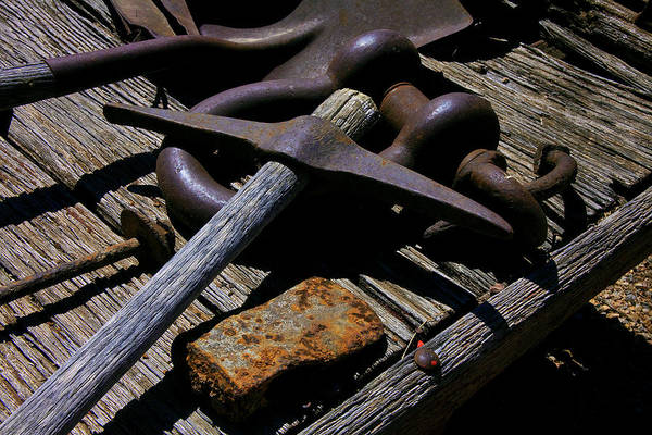 Toolshed Wall Art - Photograph - Mining Relics by Mike Flynn