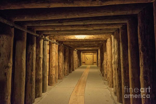 Subterranean Photograph - Mining Tunnel by Juli Scalzi