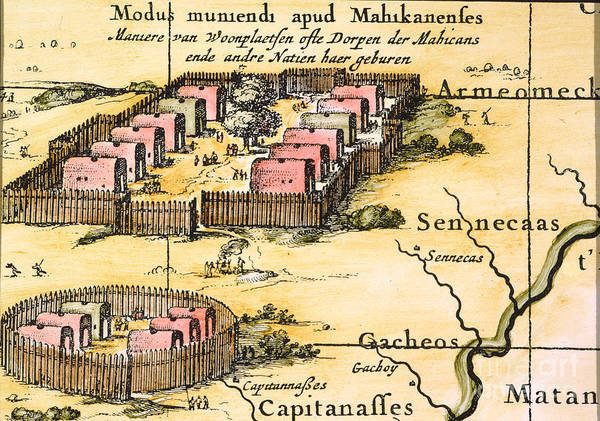 Photograph - Minisink Village, 1650s by Granger
