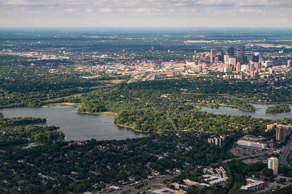 Photograph - Minneapolis Aerial View 1 by Bonnie Follett