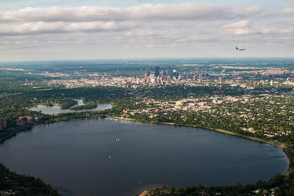 Photograph - Minneapolis Aerial View 2 by Bonnie Follett