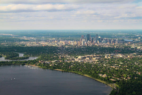 Photograph - Minneapolis Aerial View 3 by Bonnie Follett