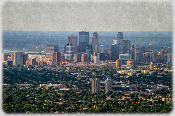 Photograph - Minneapolis Aerial View Photo Painting by Bonnie Follett
