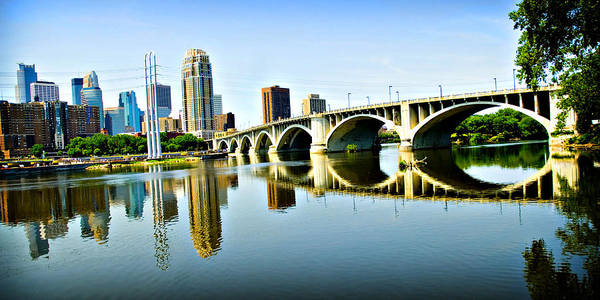 Mississippi River Photograph - Minneapolis Bridge by Laurianna Murray