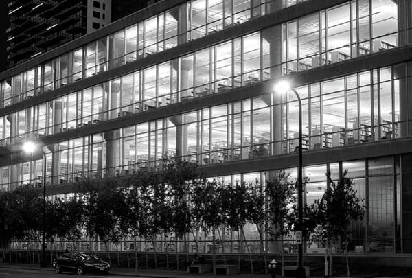 Photograph - Minneapolis Central Library At Night by Jim Hughes