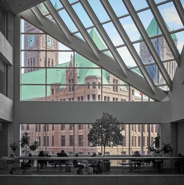 Photograph - Minneapolis City Hall Seen From U.s. Bank Plaza by Jim Hughes